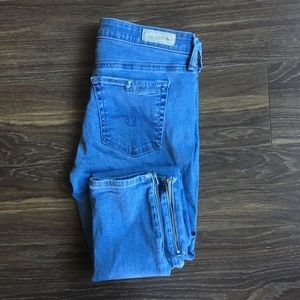 AG Zip-up Ankle Skinny Jean Size 27